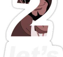 cowboy bebop 3 2 1 lets jam spike faye jet anime manga shirt Sticker