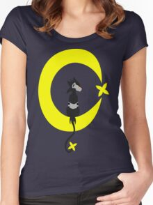 Big Electric Cat on the Moon Women's Fitted Scoop T-Shirt