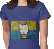 'Smoky' - silver tabby - my first teacher Womens Fitted T-Shirt