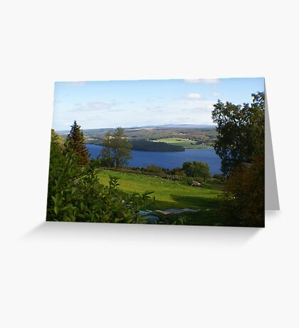 view across Loch Ness Greeting Card