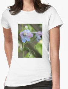 Delphinium Blue Beauty Womens Fitted T-Shirt