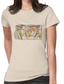 Travel The World With A Camera Womens Fitted T-Shirt