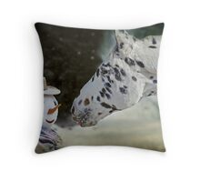 The Man with the Carrot Nose Throw Pillow