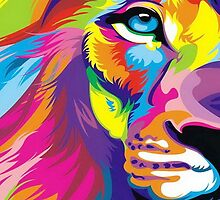 Colorful Lion by sale