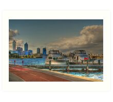 THE OLD BREWERY JETTY-173 Mounts Bay Road – Crawley Art Print