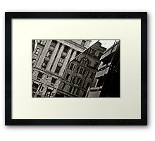 History Reflected Framed Print