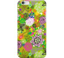 Floral Doodle with Butterflies iPhone Case/Skin