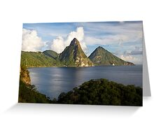 Pitons Bay Greeting Card