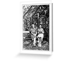Two Ladies In The Park, Circa 1930s Greeting Card