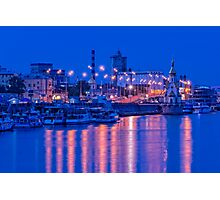 Waterbus ships near the waterfront Photographic Print