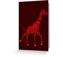 Weird Red Giraffe Greeting Card