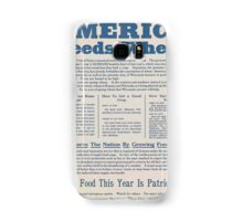 United States Department of Agriculture Poster 0284 America Needs Wheat More Food This Year is Patriotism Samsung Galaxy Case/Skin