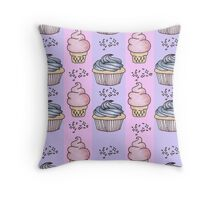 cupcakes and ice-cream!  Throw Pillow