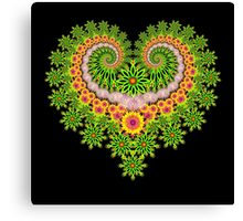Fractal Heart of Flowers Canvas Print
