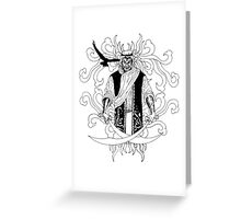 Desert Sword Greeting Card