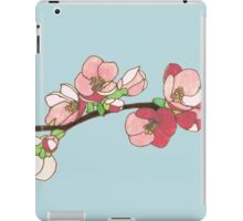 Pink on Blue Blossoms iPad Case/Skin