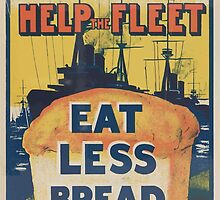 United States Department of Agriculture Poster 0171 Save the Wheat Help the Fleet Eat Less Bread by wetdryvac