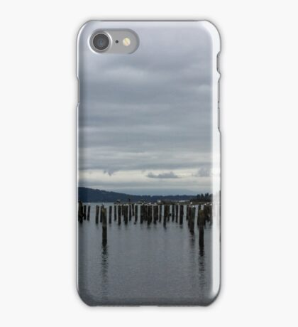 Cloudy on the Puget Sound iPhone Case/Skin