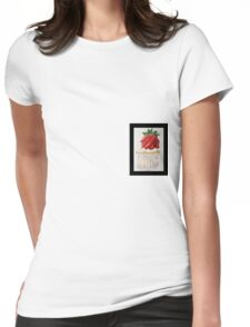 Strawberry Cupcake  Womens Fitted T-Shirt