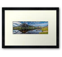 Tryfan and Lake Ogwen Panorama Framed Print