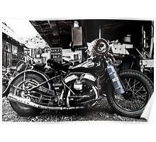 Historic Harley Davidson Poster