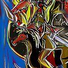 In Blue & Gold - Sun, Fire, Eagle, Horse Solar Plexus Dance Odyssey by Anthea  Slade