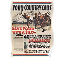 United States Department of Agriculture Poster 0101 Your Country Calls Save Food With a Silo Poster
