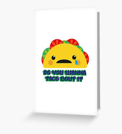 Therapy Taco Greeting Card