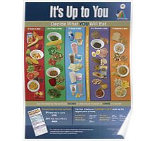 United States Department of Agriculture Poster 0288 It's Up To You Decide What You Will Eat Poster
