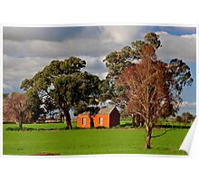 Green Fields, Red Ruin amongst the Gum Trees Poster