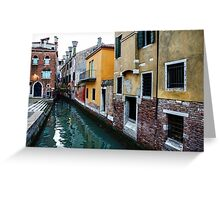 Impressions of Venice - Fabulous Distinctive Chimneys and Charming Bridges Greeting Card
