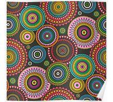 Circles Geometric multi coloured Poster