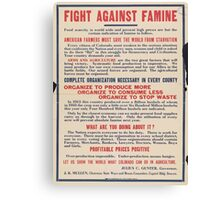 United States Department of Agriculture Poster 0191 Fight Against Famine Canvas Print