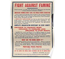 United States Department of Agriculture Poster 0191 Fight Against Famine Poster