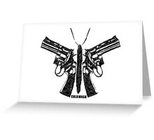 BUTTERFLY GUNS Greeting Card