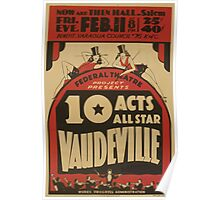 WPA United States Government Work Project Administration Poster 0772 Federal Theatre All Star Vaudville Poster