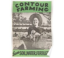 United States Department of Agriculture Poster 0144 Contour Farming Saves Soil Water Fertilizer Poster