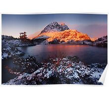 Little Horn in Autumn Snow Twisted Lakes Poster