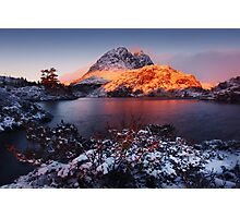 Little Horn in Autumn Snow Twisted Lakes Photographic Print