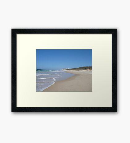 Gold Coast Beach on a Sunny Winter's Day Framed Print