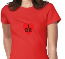 I Love Brazil - Country Code BR T-Shirt & Sticker Womens Fitted T-Shirt