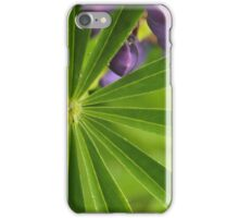 green plant with purple flowers iPhone Case/Skin