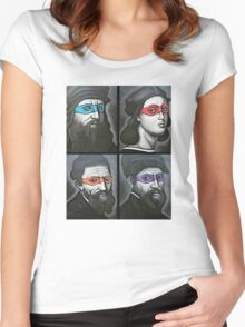 NINJA TURTLES RENAISSANCE Women's Fitted Scoop T-Shirt
