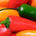 Peppers Closeup by edge2edgephoto