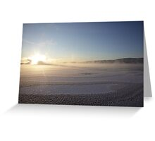 Vapors rising from a freezing river, Höga Kusten / High Coast, Sweden 2 Greeting Card