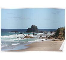 Low Tide at Narooma Surf Beach Poster