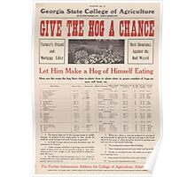 United States Department of Agriculture Poster 0206 Give the Hog a Chance Poster