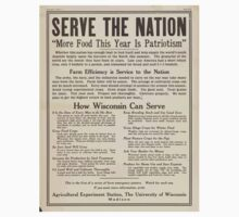 United States Department of Agriculture Poster 0286 Serve the Nation More Food This Year is Patriotism One Piece - Long Sleeve