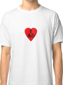 I Love Andorra - Country Code AD T-Shirt & Sticker Classic T-Shirt