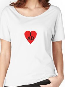 I Love Andorra - Country Code AD T-Shirt & Sticker Women's Relaxed Fit T-Shirt